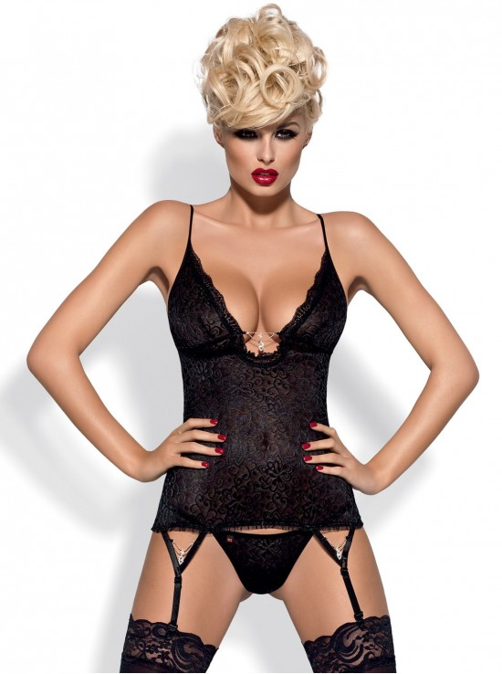 Diamond corset black