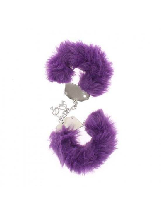 Menottes metal fourrure violettes