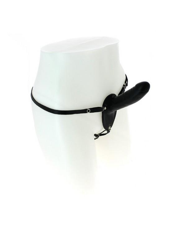 Be Naughty Gode ceinture anal en latex noir - 13 cm
