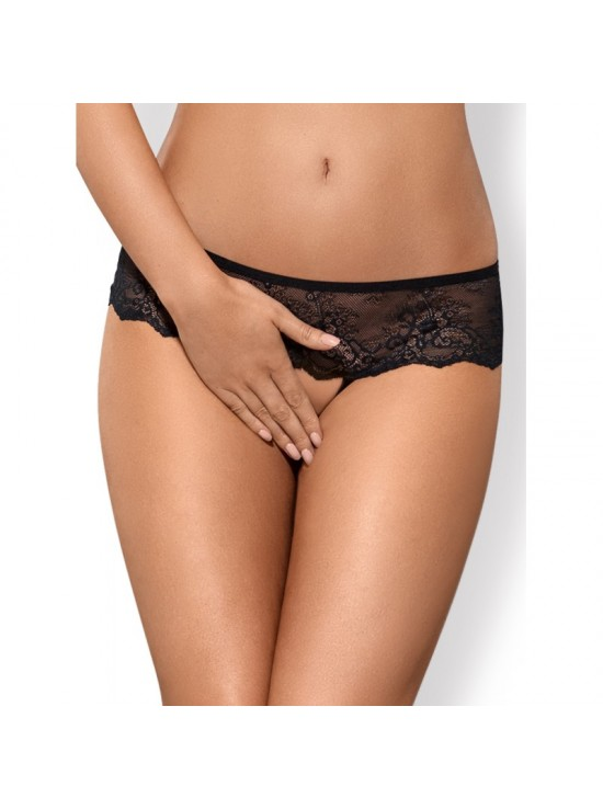 Strings, Pantys & Shortys Merossa Crotchless Panties Black