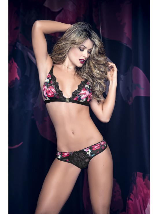 Ensembles Lingerie Set black print 8274