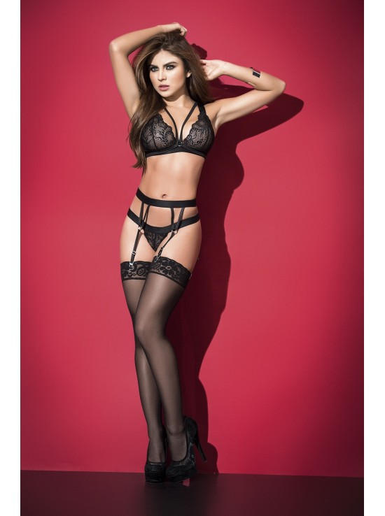 Ensembles Lingerie Three pieces set black 2499