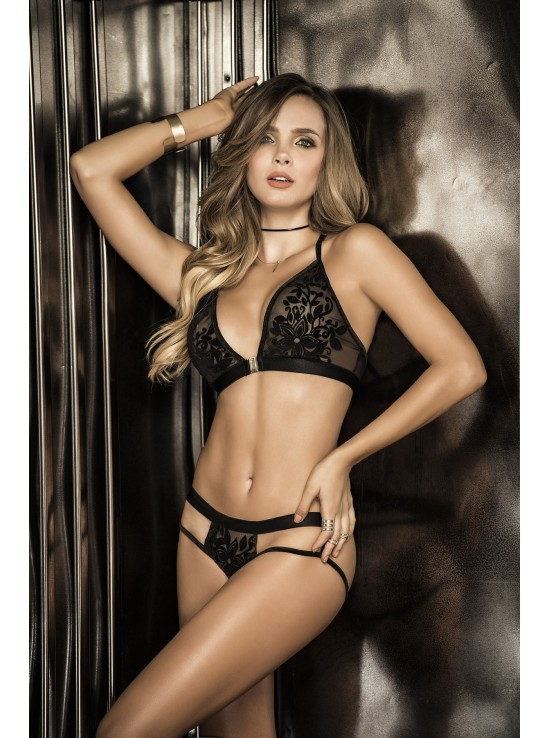 Ensembles Lingerie Set black 8265