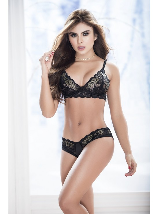 Ensembles Lingerie Set black 8253