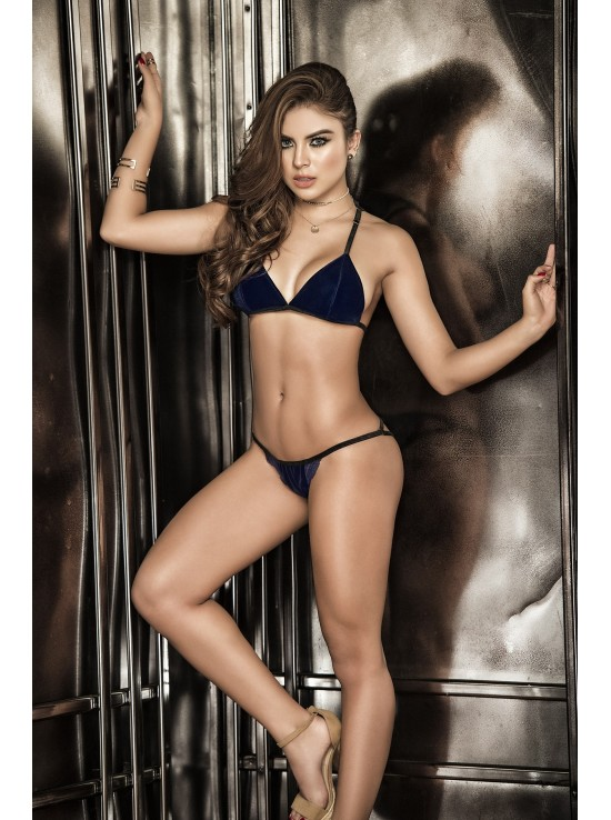 Ensembles Lingerie Two pieces blue set 8269
