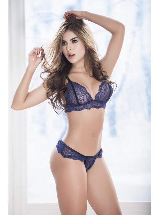 Ensembles Lingerie Set blue 8255
