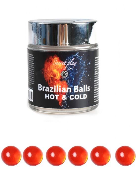 Huiles de Massage 6 Brazilian balls frio calor 3630