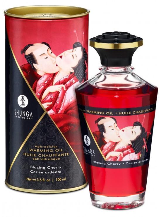 Huiles de Massage Huile chauffante aphrodisiaque cerise ardente 100ml