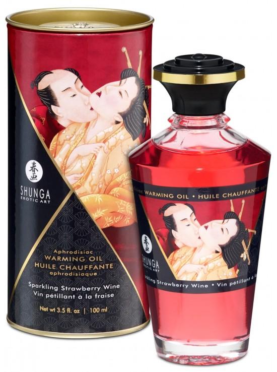 Be Sweety Huile chauffante aphrodisiaque vin pétillant fraise 100ml