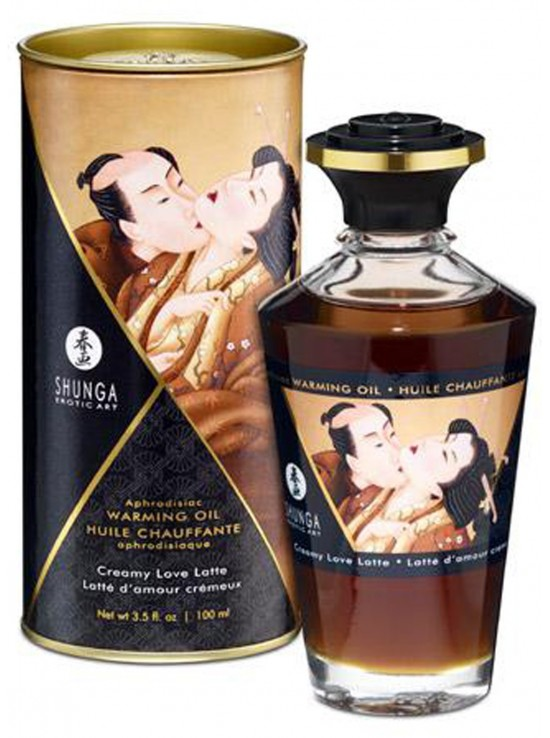 Huile chauffante aphrodisiaque latte d'amour cremeux 100ml