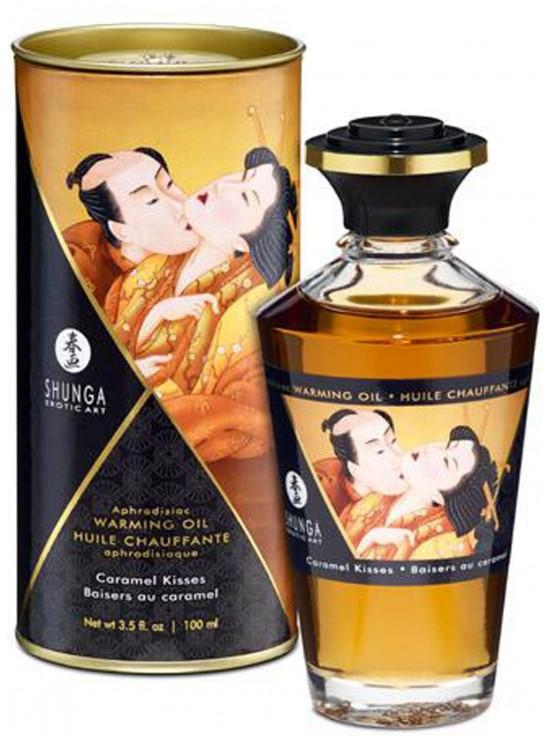 Huile chauffante aphrodisiaque baisers au caramel 100ml