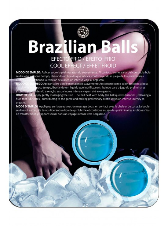 Bougies & Huiles de Massage Cold effect brazilian balls set 3613