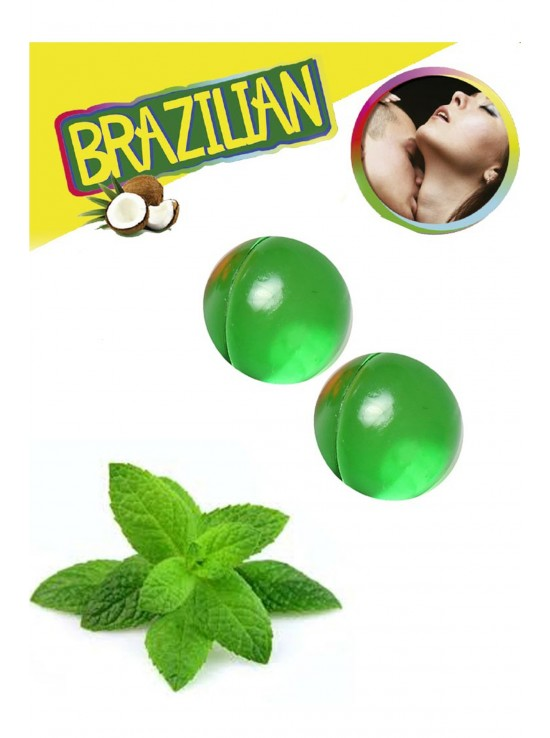 Bougies & Huiles de Massage Brazilian balls mint 3385-8