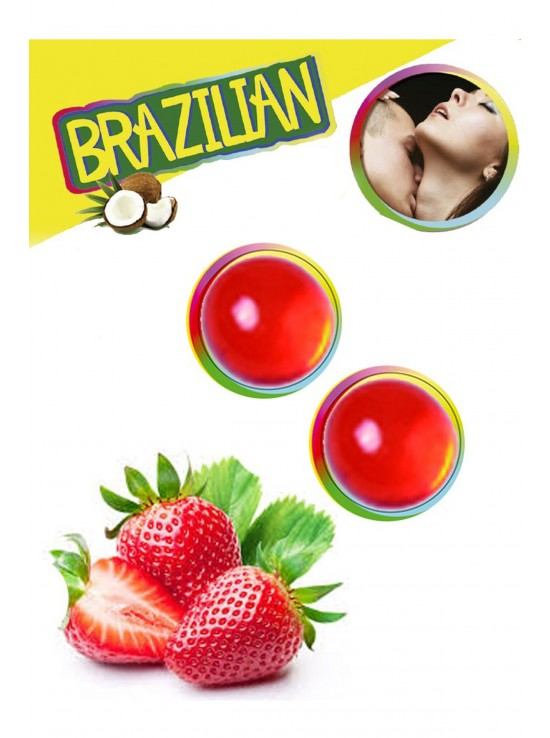 Bougies & Huiles de Massage Brazilian balls strawberry 3385-7