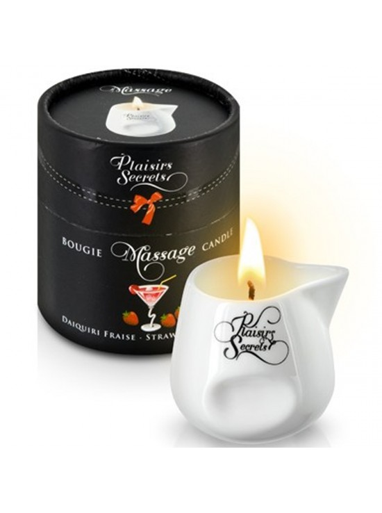 Bougies de Massage Bougie de massage daikiri fraise 80ml