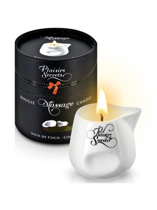 Bougies de Massage Bougie de massage noix de coco 80ml