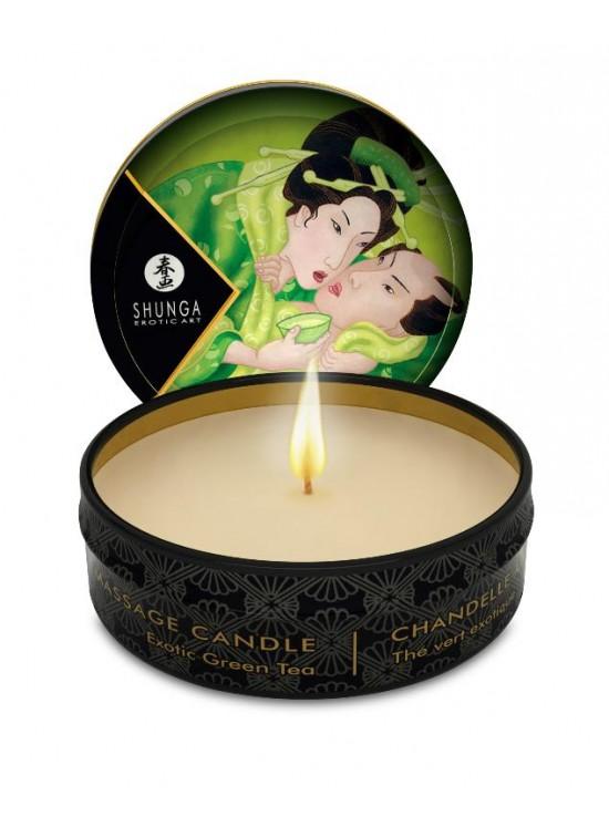 Bougies & Huiles de Massage Mini bougie de massage lueur et caresses - Thé vert Exotique